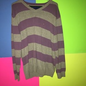 Tommy Hilfiger Mens Striped Large Sweater